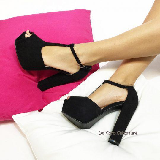 Scoprire scarpe da ginnastica prese di fabbrica SCARPE DONNA decoltè SANDALI TACCHI ALTI 13cm SCAMOSCIATI TACCO LARGO  COMODO U24