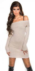 ooKouCla_fineknit_BOHOminidress_with_carmenneck__Color_BEIGE_Size_Onesize_0000IN-083_BEIGE_2 - Copia - Copia - Copia