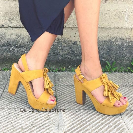 Sandalias flecos mujer zapatos cómodas de cm con Cuñas para altos anchas Tacón con 12 8n0wmOvN