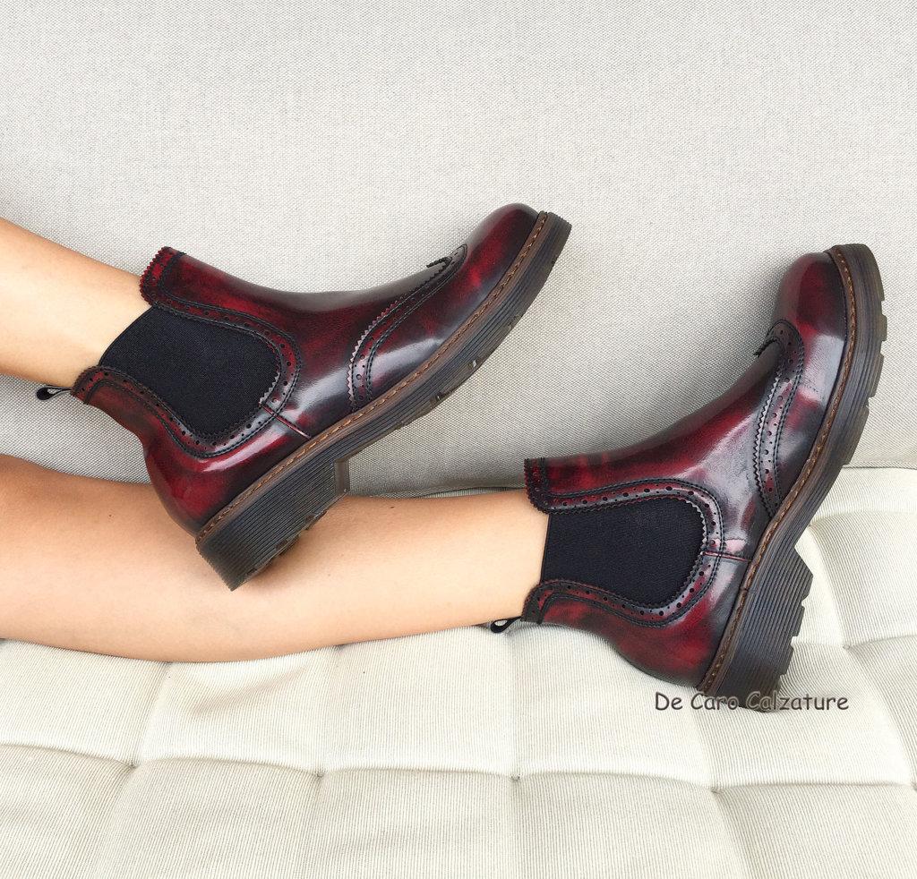 retrò scarpe eleganti gamma molto ambita di stivaletti bassi pelle, Scarpe, borse e vestiti Online Store ...