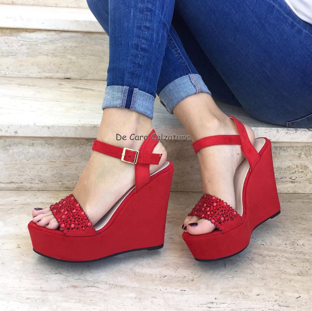 scarpe donna zeppe gioiello eleganti sandali decollete tacco alto 12 cm f3 scarpe donna zeppe gioiello eleganti sandali decollete tacco alto 12 cm f3