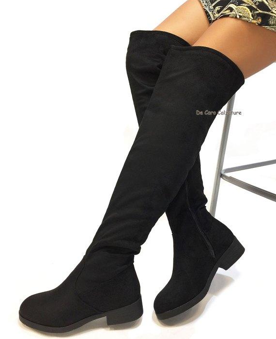 Stivali cuissardes Fiona in camoscio alti sopra il ginocchio AB5