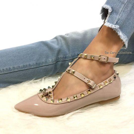 codice promozionale 312a1 737da Ballerine Stefany sandali bassi a punta con borchie E7
