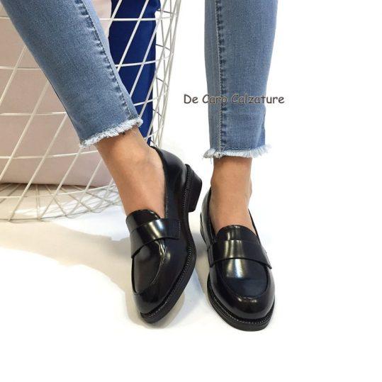 nuovi arrivi gamma molto ambita di numerosi in varietà Mocassino donna in eco pelle lucido sneakers slippers F38