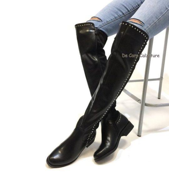 scarpe sportive 19213 22457 Stivali cuissardes sopra il ginocchio senza tacco G75
