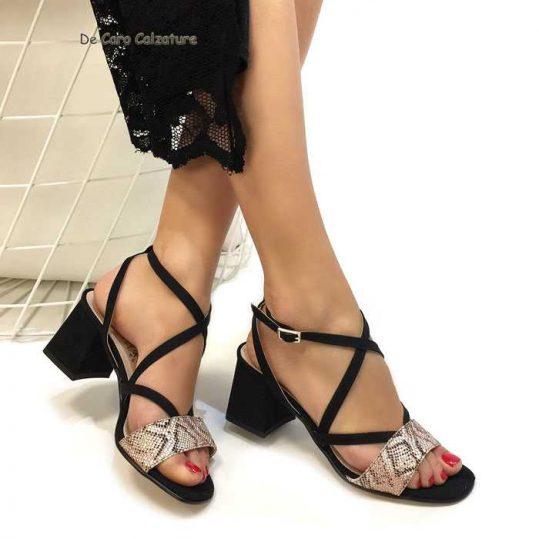 Con Largo Eleganti Tacco Alto Sandali 6 Geisha Cm N31 ZXPkOiu