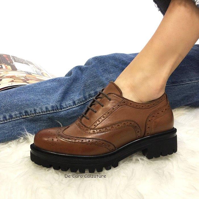 new style 62f3c 4213e Sneakers Laos eleganti inglesine stringate fondo alto DD4