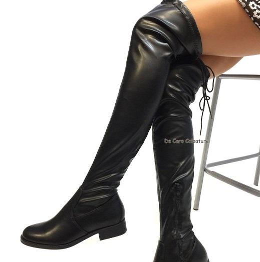 nuovo di zecca ea878 b0d77 Stivali cuissardes Nassau bassi eco pelle elasticizzati CC10