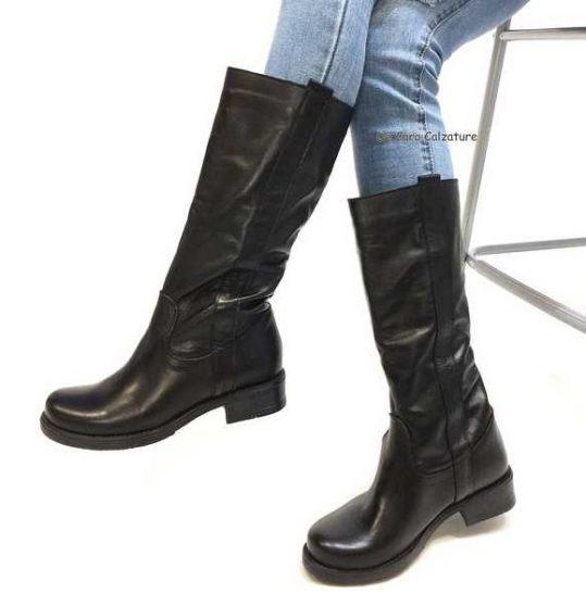 come ordinare migliore modelli alla moda Stivali Jenny 435 VERA PELLE morbidi al polpaccio DD4
