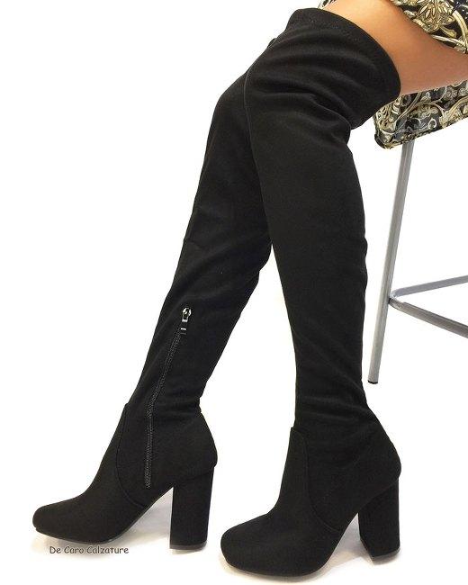 Stivali cuissardes Baby alti sopra il ginocchio scamosciati HH6