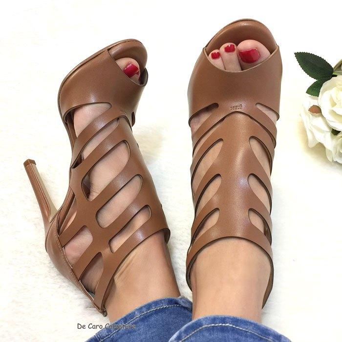 Sandali alti Valentina fasciati VERA PELLE con tacco sottile DD5